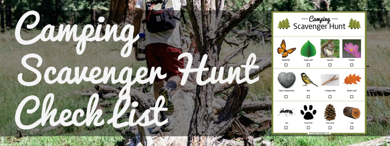Camping Scavenger Hunt List